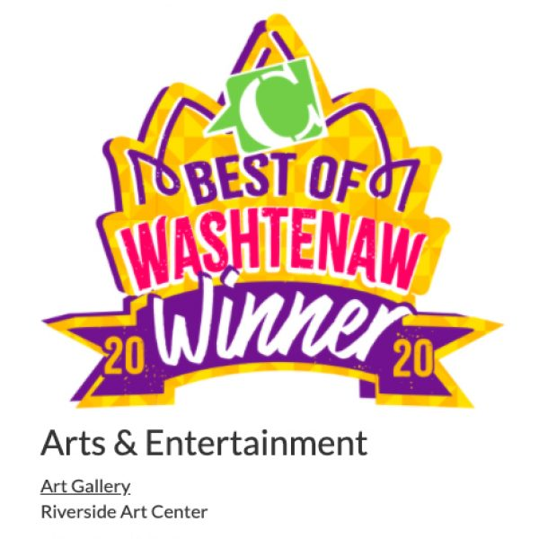 """During my role as Program Manager, Riverside Arts Center won """"Best Art Gallery"""" in Current Magazine"""