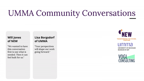 Hired by UMMA to coordinate community conversations around becoming more equitable